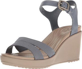 crocs Women's Leigh II Ankle Strap W Wedge Sandal $44.99 thestylecure.com
