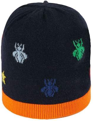 467ef29be21 Gucci Kids Baby bees and stars wool knit hat