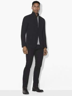 John Varvatos Stand-Collar Knit Jacket