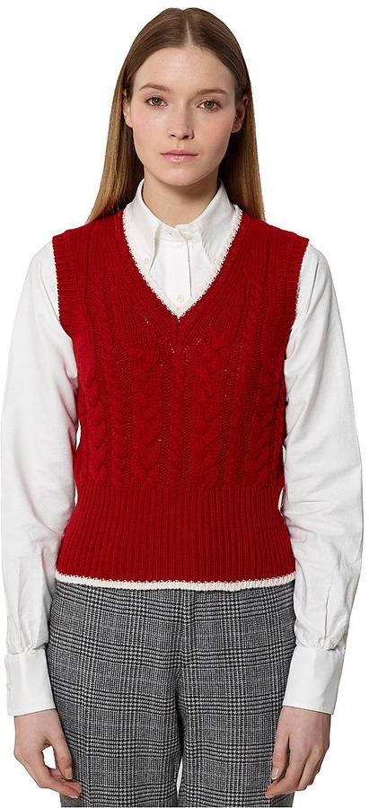 Brooks Brothers Black Fleece Cable Vest