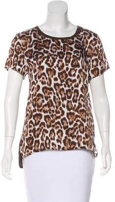 MICHAEL Michael Kors Leopard Print Short Sleeve Top