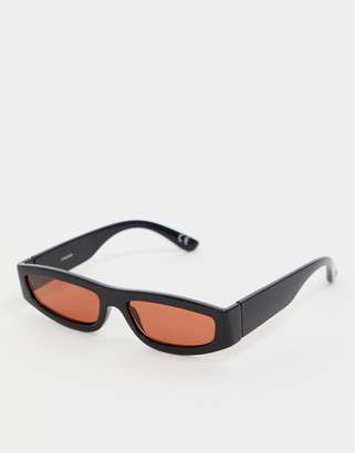 Asos DESIGN flat top sunglasses with angled lens