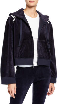Juicy Couture Wild Style Logo Patch Hooded Velour Jacket