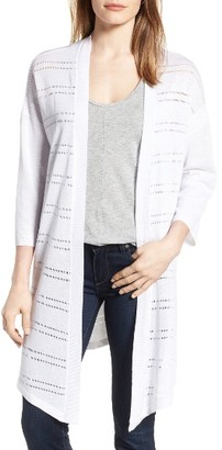 Women's Nydj Pointelle Stripe Open Front Cardigan $128 thestylecure.com