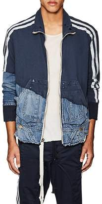 Greg Lauren Men's Patchwork Cotton Track Jacket