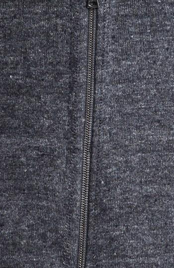 John Varvatos Collection Marled Knit Zip Hoodie