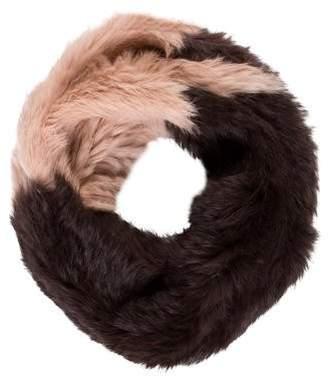 Jocelyn Knit Fur Scarf