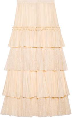 Habotai silk layered skirt $5,815 thestylecure.com