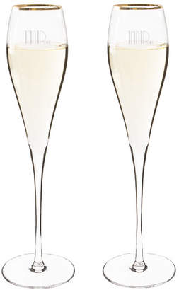Cathy's Concepts Cathys Concepts Mr. & Mr. Gatsby Champagne Flute Glass