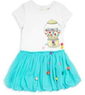 Little Girl's Embellished Gumball Pom-Pom Dress