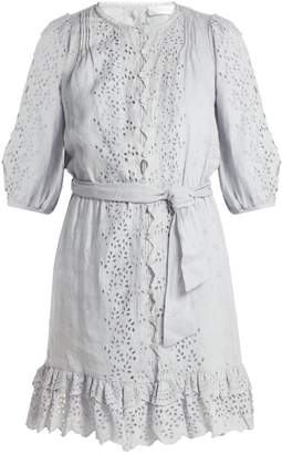 Zimmermann Iris scallop-lace linen dress