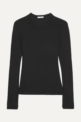 James Perse - Slub Cotton-jersey Top - Black $75 thestylecure.com