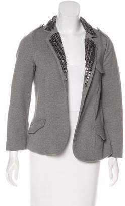 Gryphon Embellished Open Front Jacket