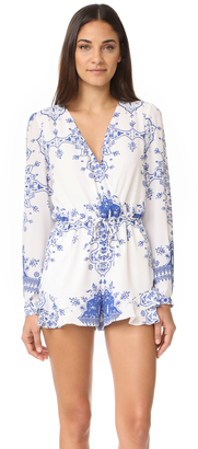 Lovers + Friends Spring Blossom Romper $170 thestylecure.com
