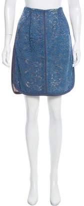 J. Mendel Knee-Length Lace Skirt