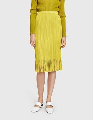 Pleats Please Issey Miyake Earthen Fringe Skirt