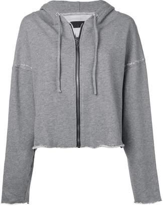 RtA Sparrow cropped zip-up hoodie