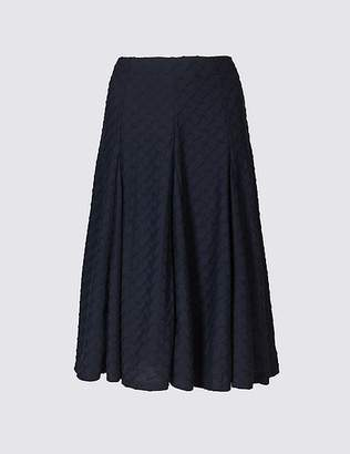 Marks and Spencer Textured A-Line Midi Skirt