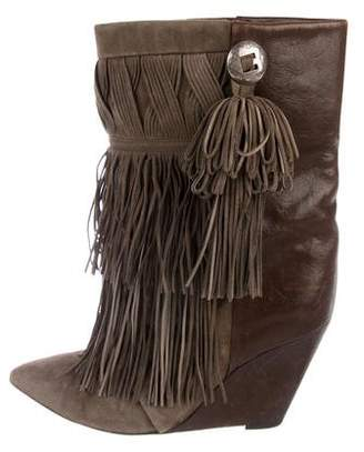 Isabel Marant Fringe Wedge Ankle Boots