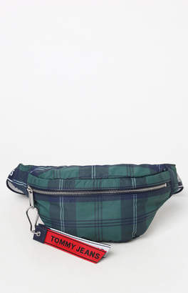 Tommy Jeans Logo Tape Plaid Hip Bag