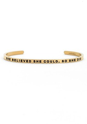 Women's Mantraband 'She Believed She Could' Cuff $35 thestylecure.com