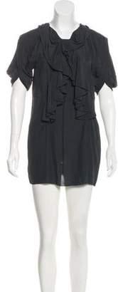 Marni Ruffle-Paneled Mini Dress