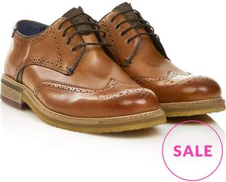 Ted Baker Men's Prycee Leather Derby Brogue Shoes- Tan