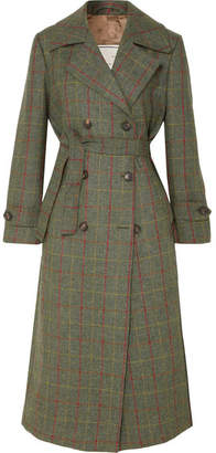 Giuliva Heritage Collection - Christie Checked Wool Trench Coat - Green