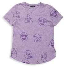 Terez Girl's Emoji Burnout Tee