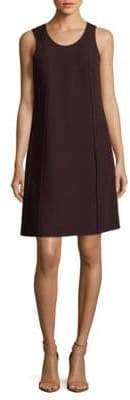 Narciso Rodriguez Seam-Front Wool Shift Dress