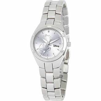 Winnie The Pooh Women's Stainless Steel Watch, Silver Bracelet
