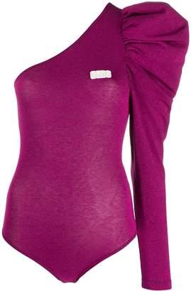 GCDS glitter one-shoulder body