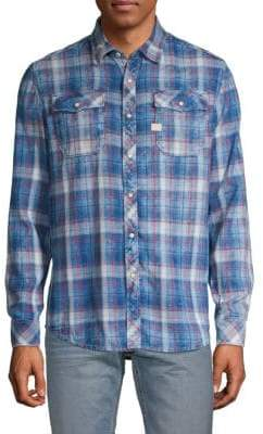 G Star Plaid Long-Sleeve Button-Down Shirt
