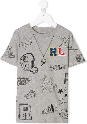 Ralph Lauren logo graphic print T-shirt