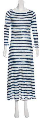 Ralph Lauren Black Label Striped Maxi Dress