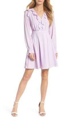 Gal Meets Glam Haley Ruffle Georgette Dress