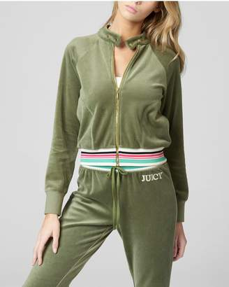 Juicy Couture EMBROIDERED JUICY LOGO VELOUR JACKET
