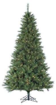 Fraser Hill Farms Smart String Pre-Lit Canyon Pine Artificial Christmas Tree - White - 12 Ft.