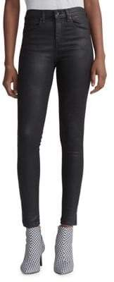 Rag & Bone High-Rise Skinny Dark Jeans