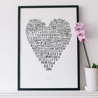 Karin Åkesson Design 'My Heart Belongs To London' Art Print 50x70cm