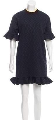 Marni Ruffle-Accented Mini Dress