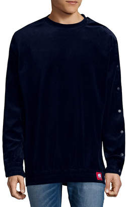 American Stitch Crewneck Velour Sweater