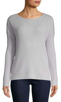 Lord & Taylor Ribbed Cashmere Top