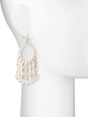 Lydell NYC Beaded Crystal Drop Earrings