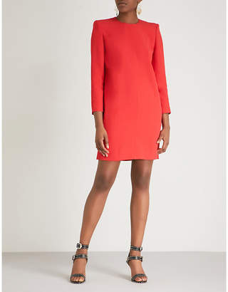 Givenchy Shoulder pad crepe mini dress