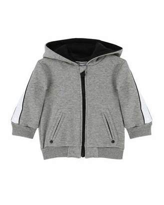 Givenchy Zip-Up Hooded Jacket w/ Logo Sleeves, Size 2-3