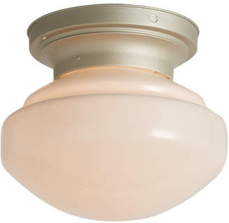 Rejuvenation Simple Schoolhouse Flush Mount w/ Silver-Toned Lacquer