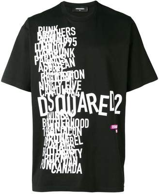 DSQUARED2 Logo Disco Punk printed T-shirt