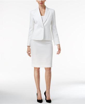 Le Suit Single-Button Textured Skirt Suit $200 thestylecure.com