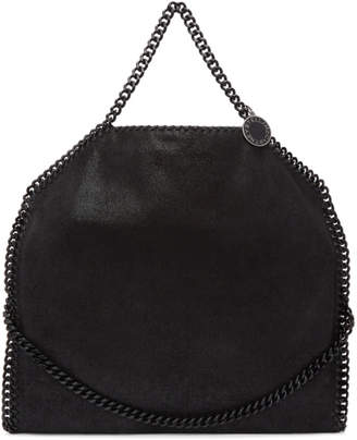 Stella McCartney Black Tonal Three-Chain Falabella Tote